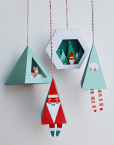 Chirstmas Ornaments Prinable DIY Crafts