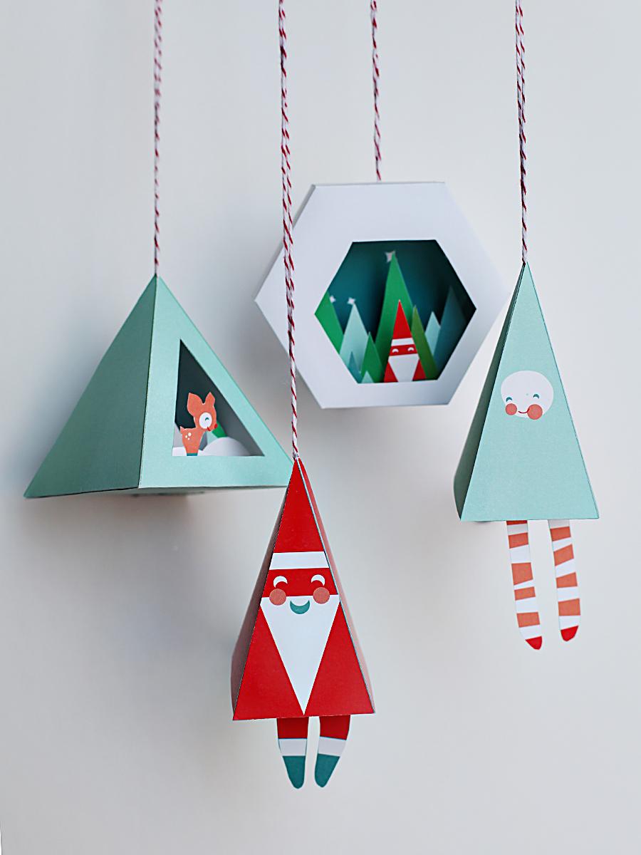 Chirstmas Ornaments Prinable DIY Crafts