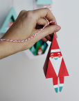 Chirstmas Ornament Prinable DIY Craft - Santa Bell