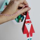 Chirstmas Ornament Prinable DIY Craft - Santa Bell