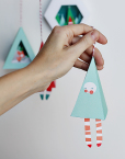 Chirstmas Ornament Prinable DIY Craft - Christmas Tree Bell