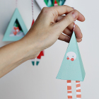 Chirstmas Ornament Prinable DIY Craft - Christmas Tree Bell