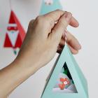 Chirstmas Ornament Prinable DIY Craft - Deer Diorama Snow Globe