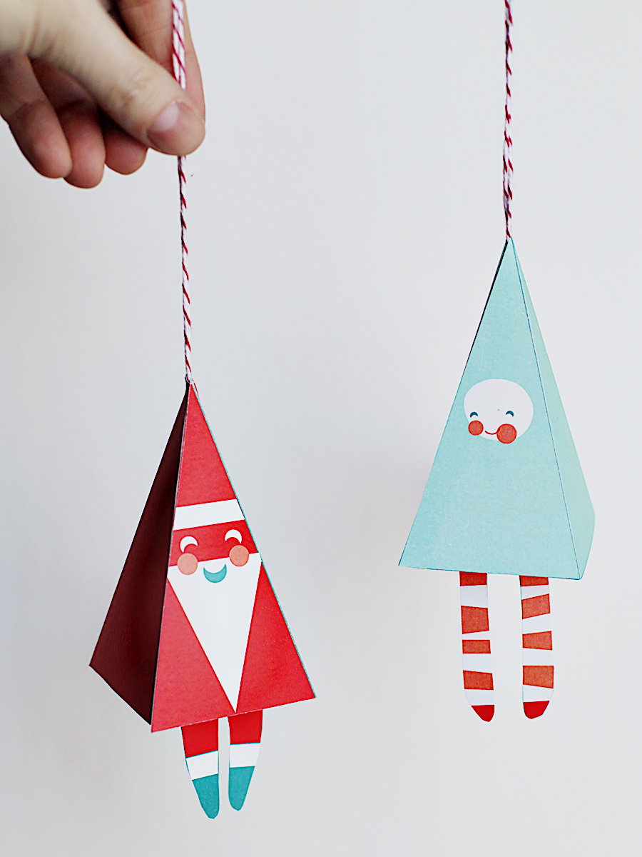 Chirstmas Ornament Prinable DIY Craft -
