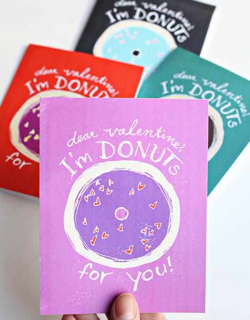 Valentine Card DIY Printables - I'm Donuts for You