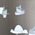 In the Clouds Mobile DIY printable nursery and home decor craft project