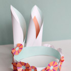 Bunny Ears Crown and Bunny Top Hat DIY Printable Craft Project for Kids - Easter crafts