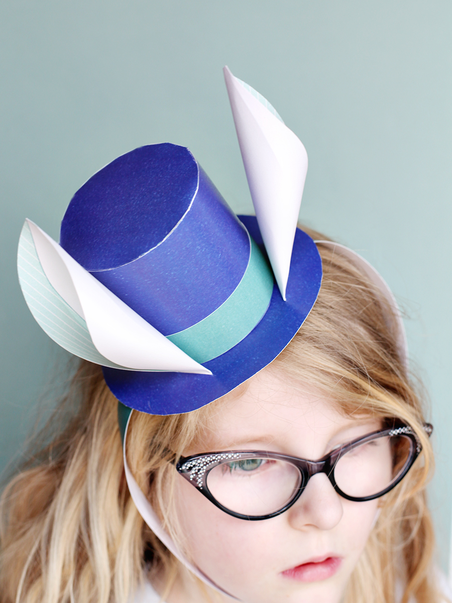 Bunny ears top hat set smallful for Easter bunny hat template