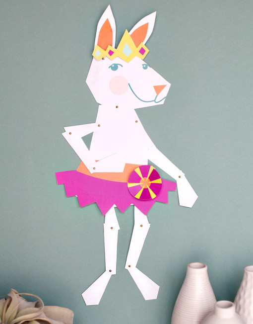 Easter Bunny dress up decorate Wall Puppet - Easter DIY Printable Crafts for Kids