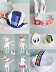 Spring DIY Printable craft projects with Easter projects too