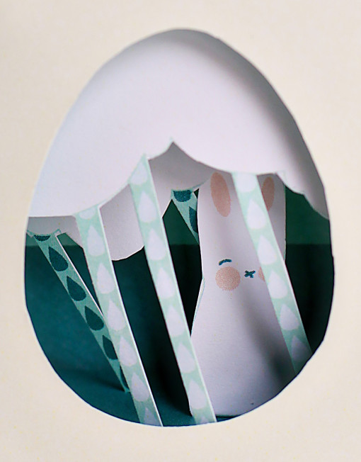 Easter Egg Diorama DIY Printables - April Showers May Flowers