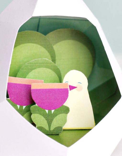 Easter Egg Diorama DIY Printables - April Showers May Flowers
