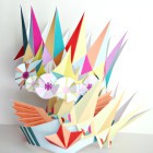 4 different printable paper birthday crowns - party favors - superhero, jewels, geo, and flower crowns to DIY for parties