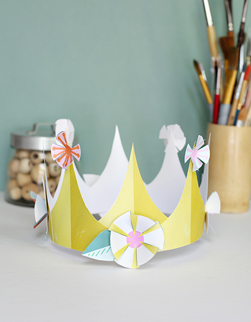 paper printable - diy flower crown for birthday parties