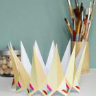 jewel and gems crown - DIY paper printable birthday crown for birthday parties