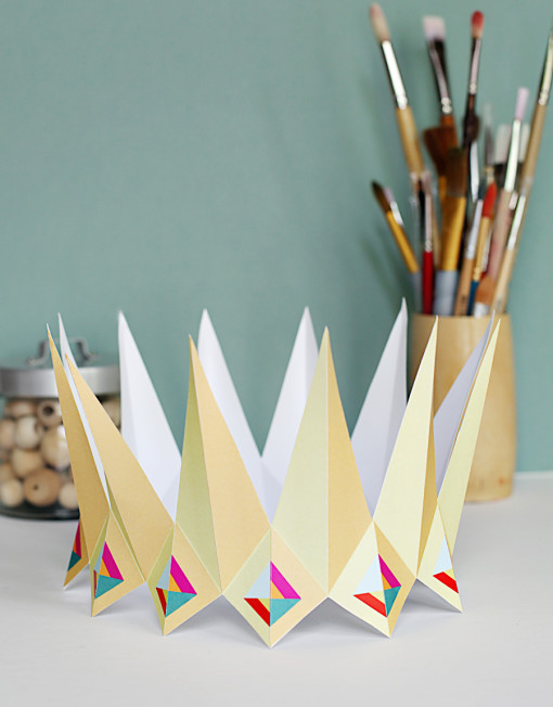jewel and gems crown - DIY paper printable birthday crown for birthday parties