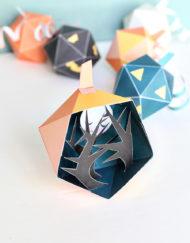 Halloween Pumpkin Diorama scene - diy printable paper craft project for kids - Halloween Decor DIY